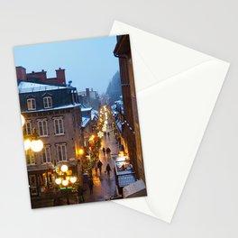 Quebec City Winter Stationery Cards