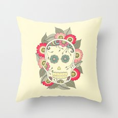 ColoredSkull Throw Pillow