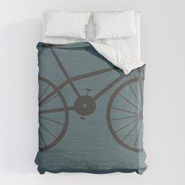 Grey Bike by Friztin Duvet Cover