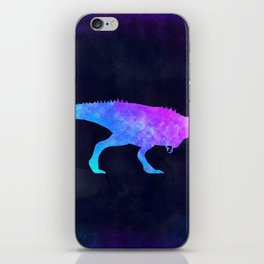 T-REX IN SPACE // Dinosaur Graphic Art // Watercolor Canvas Painting // Modern Minimal Cute iPhone Skin