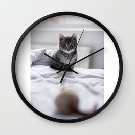 Before the pounce Wall Clock