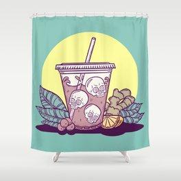 Purple Drank - Yellow & Green Shower Curtain