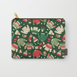 Ugly Christmas Fashion red green white Carry-All Pouch