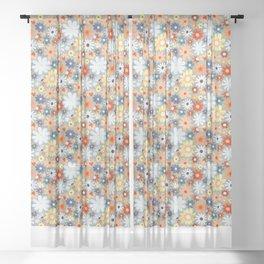 Bohemian Daisy Meadow  Sheer Curtain