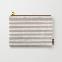 Skinny Stroke Horizontal Nude on Off White Carry-All Pouch