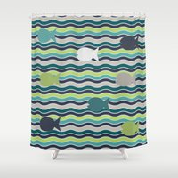 under the sea Shower Curtains featuring Under The Sea by LLL Creations