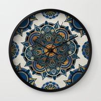 mandala Wall Clocks featuring Mandala by Mantra Mandala