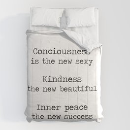 Redefining sexy, beautiful, successful. Comforters
