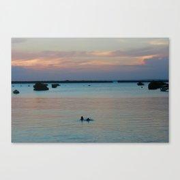 Childrens' evening swim  Canvas Print