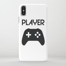 Player Text and Gamepad iPhone Case