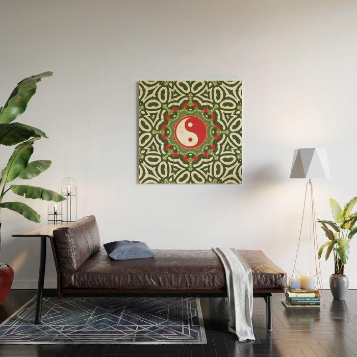 Holiday Festive Balance Yin Yang Wood Wall Art