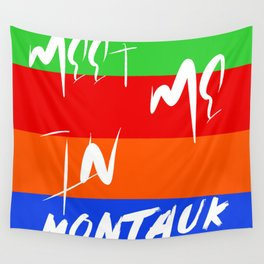 Meet Me In Montauk Wall Tapestry