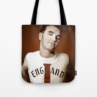 the smiths Tote Bags featuring The Smiths singer by Studio Caro △