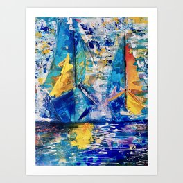 Leading edge Art Print
