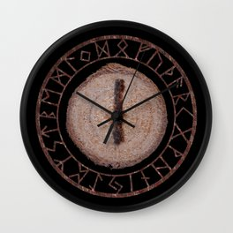 Isa - Elder Futhark rune Wall Clock