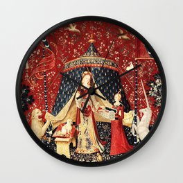 The Lady and The Unicorn Tapestry Wall Clock