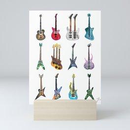 Electric Guitars Watercolor Mini Art Print
