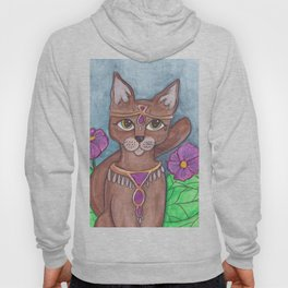 Absynian Cat Art Hoody