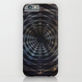 Heptagon space portal - high speed iPhone Case