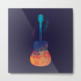 Guitar Color Metal Print