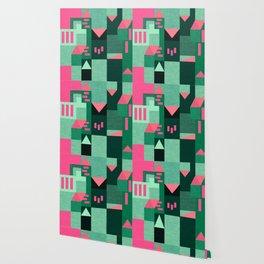 Teal Klee houses Wallpaper