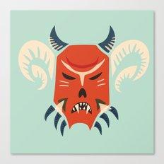 Kuker Evil Monster Mask Canvas Print