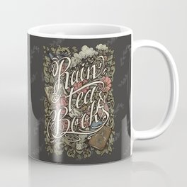 Rain, Tea & Books - Color version Coffee Mug
