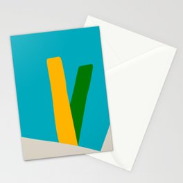 Mid Century Modern 9 Stationery Cards