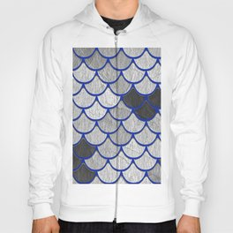 Dragon Scales with Blue Outline Hoody