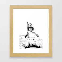Borg Wins Wimbledon for 5th straight time Framed Art Print