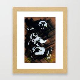 Coal miner lady V Framed Art Print