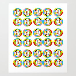 Multicolor circles II-abstraction,abstract,geometric,geometrical,pattern,circle,sphere Art Print