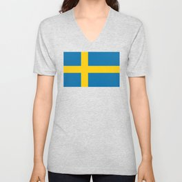 National flag of Sweden Unisex V-Neck