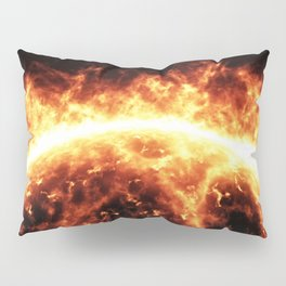 Sun surface with solar flares Pillow Sham