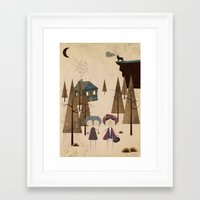 red riding hood Framed Art Prints featuring Red Riding Hood by Liam Smith