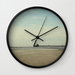 Folly Beach Pier Wall Clock