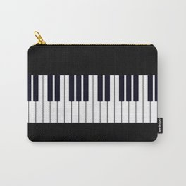 Piano Keys - Black and white simple piano keys pattern minimalistic music themed artwork Carry-All Pouch