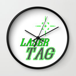 Funny Laser Tag Party T-Shirt Mode On Laser tag Wall Clock
