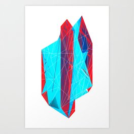 Geminate - Berry Art Print