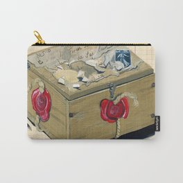 Old French Wood Box in Gouache Carry-All Pouch