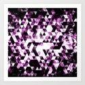 Triangle Geometric Vibrant Pink Smoky Galaxy by pldesign