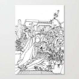 Majorelle Garden, Marrakech, Morocco Canvas Print