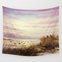 Duck Hunting Companions Wall Tapestry