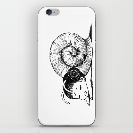 Snail girl iPhone & iPod Skin