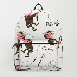 Fishing pattern of a fisherman Backpack