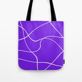 """""""Abstract lines"""" - White on lavender Tote Bag"""