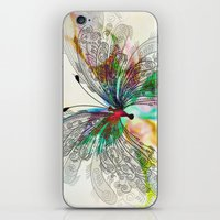 butterfly iPhone & iPod Skins featuring Butterfly by Klara Acel