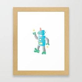 cartoon toy robot. Framed Art Print
