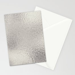 Simply Metallic in Silver Stationery Cards