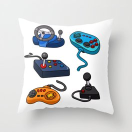 Video Game  Controls Throw Pillow